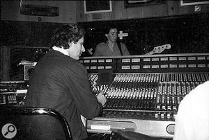 Laying down Bruce Foxton's bass overdubs.