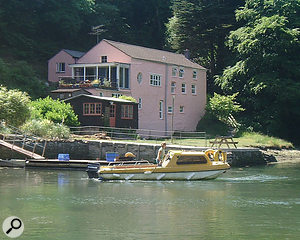 Situated on a tidal river in remote Cornwall, Sawmills Studio is accessible only by boat for much of the time.