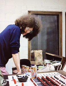 Noel Redding at the Record Plant during the Electric Ladyland sessions; the bass on 'All Along The Watchtower' was played by Hendrix himself.