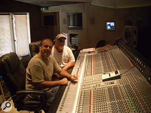 The Albert brothers today, at their Audio Vision Studios facility in Florida.