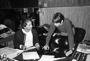 Vic with Paul Weller in the control room at Townhouse.