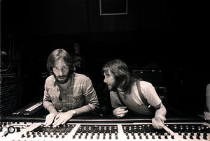 Concentrate! Ken Caillat and Richard Dashut doing the final mix at Wally Heider Recording.