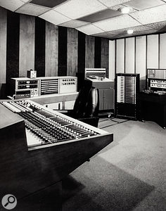 The control room in Ardent Studio A on Madison Avenue was based around a Spectrasonics console.