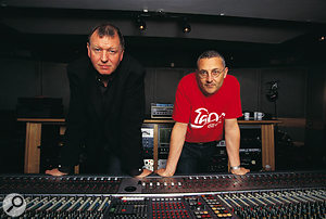 Clive Langer (right) and Alan Winstanley at their Westside Studios in 1998.