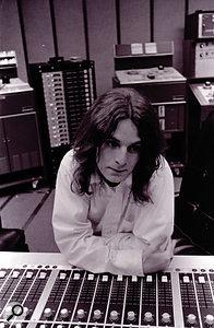 Alex Chilton in the control room at Studio A, Madison Avenue, circa 1973.