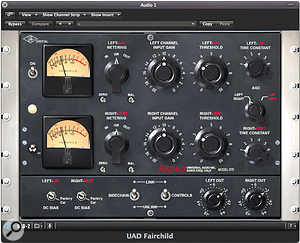 Many engineers use the Fairchild 670 for the subtle sonic enhancement of its circuitry as much as they do for gain‑reduction. Although the original is now prohibitively expensive for all but the most maniacal of collectors, there are some excellent software emulations, such as this one from Universal Audio.