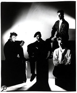 Depeche Mode 1984. Left to right: Alan Wilder, Martin Gore, Dave Gahan and Andy Fletcher.