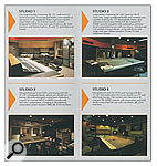 Mid-'80s brochure from AIR Studios on Oxford Street shows the Studio One and Two control rooms, both of which were used during the recording of the Learning To Crawl album. AIR Studios moved to Lyndhurst Hall in Hampstead in the early '90s.