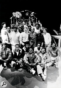 Paul Simon with collaborators Ladysmith Black Mambazo on the Graceland tour 1987.