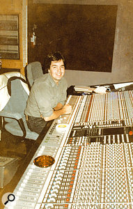 Fernando Kral at the SSL E-series desk in the control room of Sigma Sound Studios.
