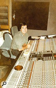 Fernando Kral at the SSL E-series desk in the control room of Sigma Sound Studios.
