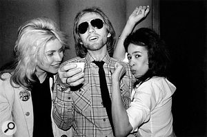 Mike Chapman with Debbie Harry and Ronnie Spector, who was visiting the session, and whose presence apparently made Debbie very nervous when doing vocal takes for 'Fade Away And Radiate'.