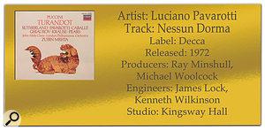 Luciano Pavarotti 'Nessun Dorma' | Classic Tracks