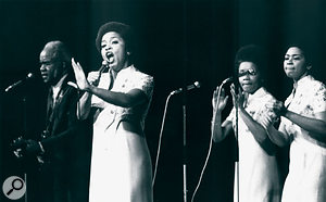 The Staple Singers in action in 1973.