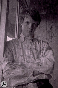 Terry Manning, in a photo taken on a miniature Minox 'spy camera' around 1972.