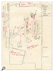 Howe's layout notes for the orchestral sessions on 'Aquarius'.