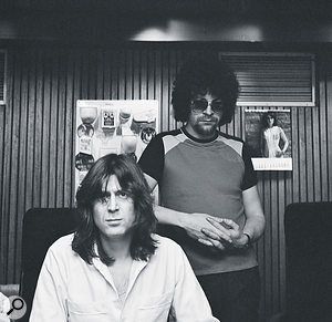 ELO's Jeff Lynne (standing) and engineer Reinhold Mack at Musicland, 1979.