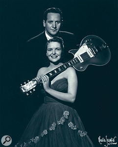 A publicity photo of Les and Mary from around the time of 'How High The Moon'.