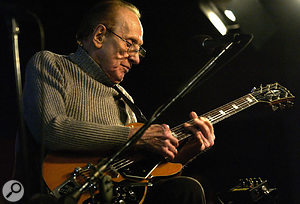 At 91 Les Paul is still playing sell-out weekly gigs at the Iridium, New York.