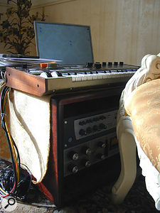 Apart from the Digi 002 Rack, the only outboard in Uwe's studio is a Urei 1178 compressor (bottom).