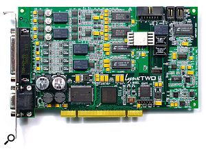 Despite its lingering reputation as a poor audio relation, the PCI soundcard is capable of superb audio quality, even when placed in the hostile environment of a computer. Models such as the Lynx Two shown here are capable of a dynamic range exceeding 116dB.