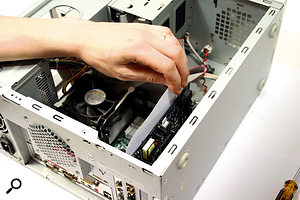 When you install a PCI soundcard in an adjacent slot to another PCI card, components on the two cards can touch, and this can lead to degradation of critical audio signals. Because it's not always easy to see if components are touching, a simple test is to try slipping a sheet of paper between adjacent cards.