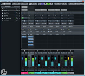 This is what your virtual Dolby A routing system should look like in Cubase 7.