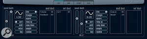 The LFO window is great for adding movement to a sound.