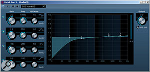 Bass roll–off aside, it's best to keep EQ fairly subtle if you want to maintain a natural sound.