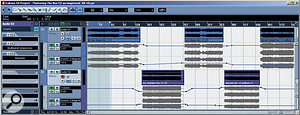 Mastering a series of tracks in SX, with automation being used to adjust settings on the various processors.