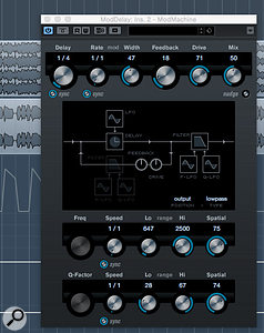 ModMachine can add some interesting filter and distortion options to the delay effect.