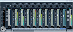 Setting each LoopMash track to output to aseparate mixer channel allows level and pan to be controlled in more detail, with the overall output level handled via aGroup channel.