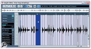 4. Audition each audio slice by clicking between each pair of hitpoints in Edit Hitpoints mode.