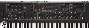Almost all of the Prophet 08's controls can be found on the panel of the instrument.