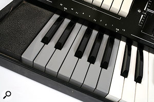 The lower octave of the Davolisint's keyboard provided a novel way of shaping the sound.