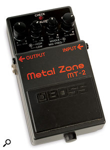 If you like to program your synth parts, and you have something like aBoss MT2 pedal, with its swept mid control, lying around, try playing asimple sound through it and twiddling the knobs to sculpt anew sound.