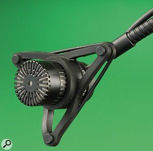 The tiny head and flexible mount allow the 3521 to reach the parts most other mics cannot.