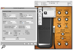 A Console is an ideal way of routing data from aMIDI expression pedal to the new Wah Pedal plug‑in.