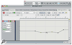 Will wonders never cease? In DP 7.1, using the Trim tool, you can directly drag automation 'ramps'.