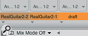 By default, Mix Mode is off, but turning it on allows you to develop multiple alternative mixes for asingle sequence.