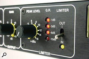 The limiter has been designed to operate transparently, but will also give a classic analogue pumping effect if driven hard.