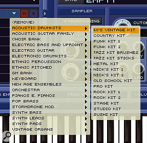 Colossus's many Instruments are organised into 19 basic types in Kompakt. These are as shown in the selection menu above.