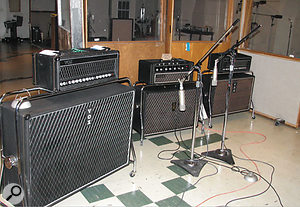 What do you need to get that Beatles guitar sound? Vox amps, Neumann mics and, of course, an authentic, '60s-style linoleum floor.