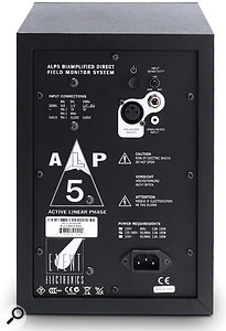 On the rear of the ALP5s, there's a choice of unbalanced RCA phono sockets and balanced or unbalanced XLR or jack for the input.