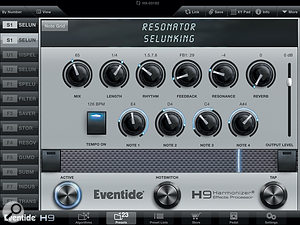 The Resonator (pictured above) and UltraTap  algorithms are new additions to the Eventide effects range, and were created specifically for the H9 and H9 Core.