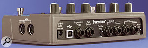 The Time Factor's inputs and outputs are switchable between line and instrument level, and the aux switch and expression pedal inputs add to the versailtity.