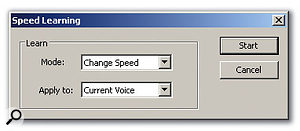 The Learn function allows Word Builder to match the sung phrase to the timing of a MIDI phrase.
