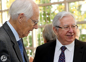 Eddie Veale (right) with Sir George Martin
