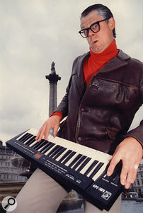 John Shuttleworth strikes a pose.
