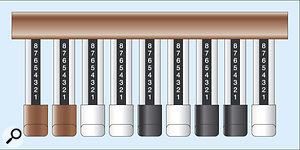 Figure 2: The nine 'drawbars' fully extended.